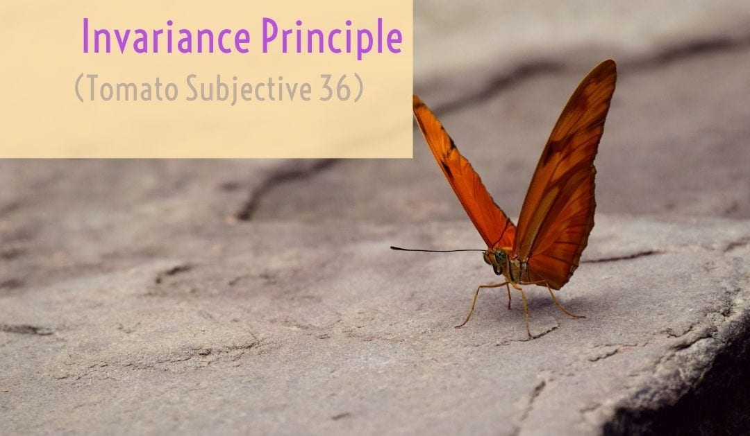 Test of Mathematics Solution Subjective 36 – Invariance Principle