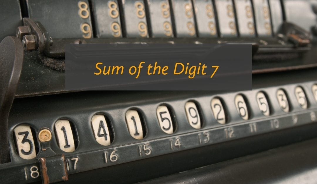 Test of Mathematics Solution Subjective 7 – Sum of the Digits