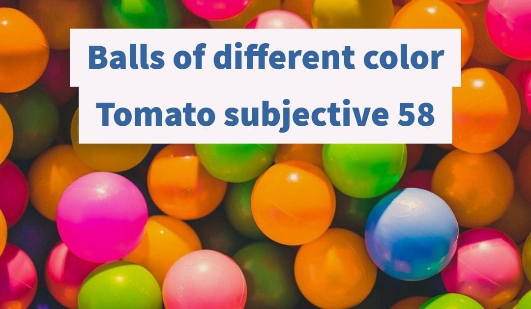 Test of Mathematics Solution Subjective 58 – Balls of Different Color