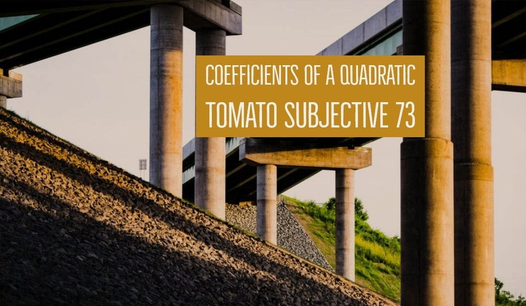Test of Mathematics Solution Subjective 73 – Coefficients of a Quadratic