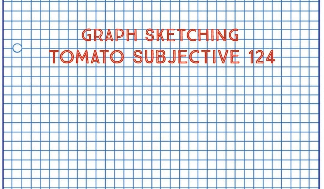 Test of Mathematics Solution Subjective 124 – Graph sketching