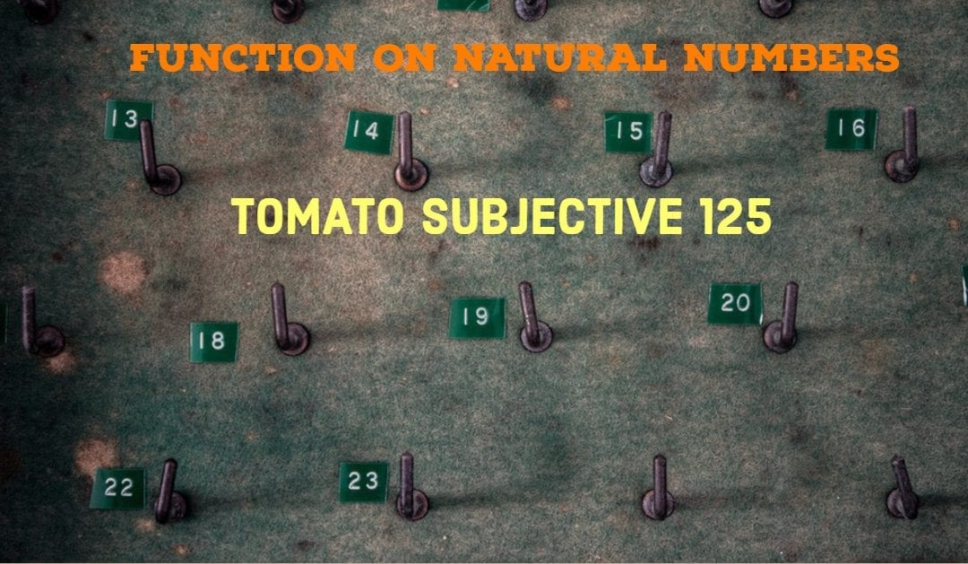 Test of Mathematics Solution Subjective 125 – Function on Natural Numbers