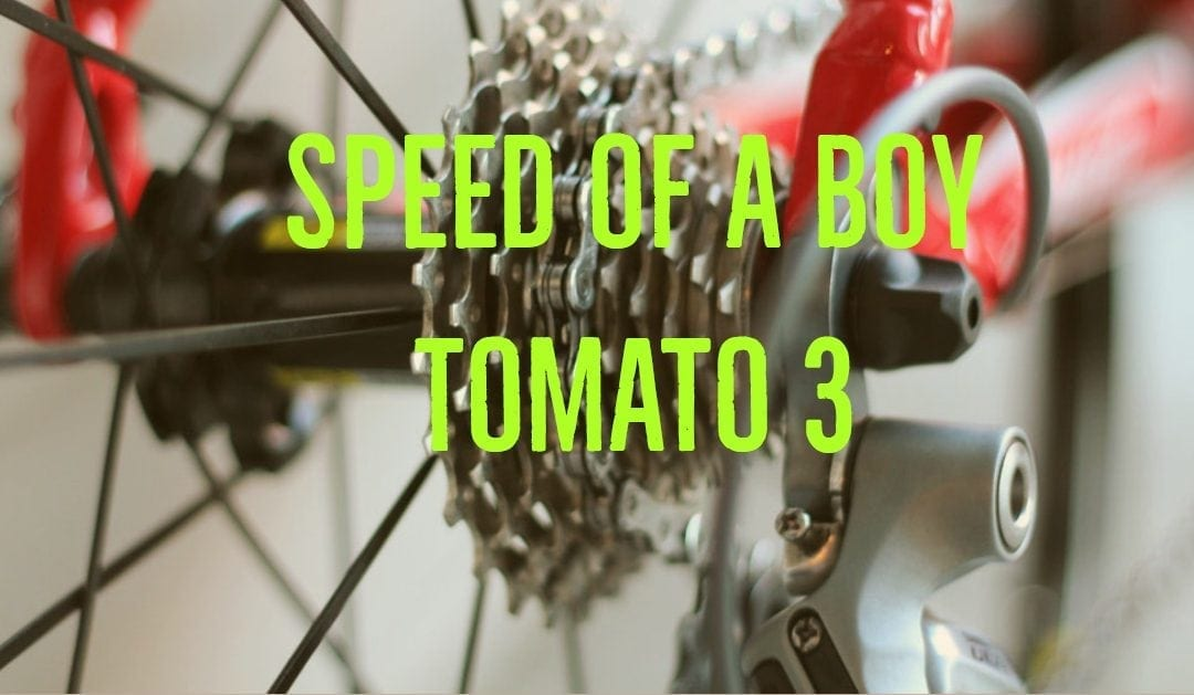Speed of a boy (Tomato 3)