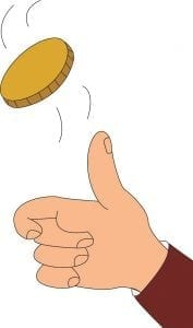Tossing a Coin in a Moving Train
