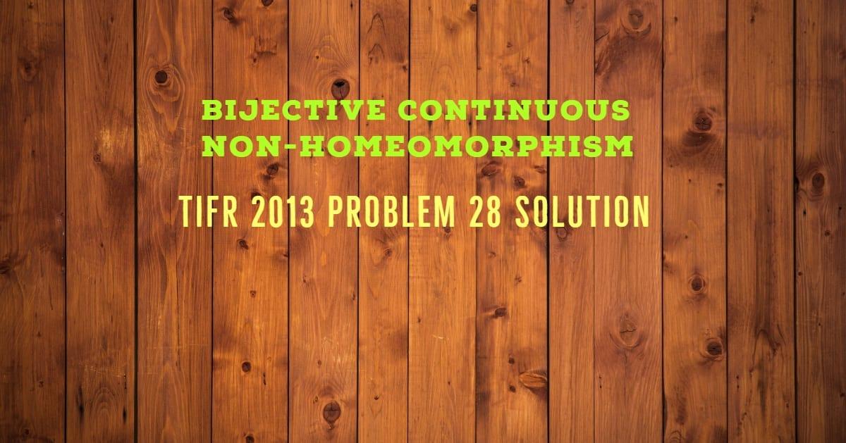 TIFR 2013 Problem 28 Solution
