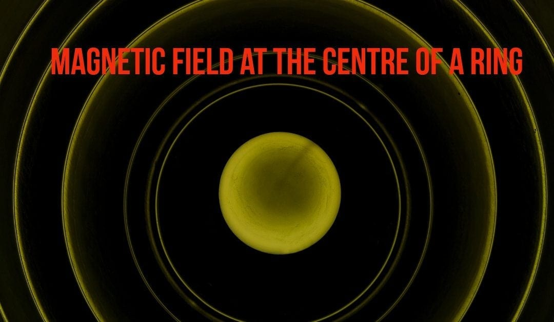 Magnetic Field at the Centre of a Ring
