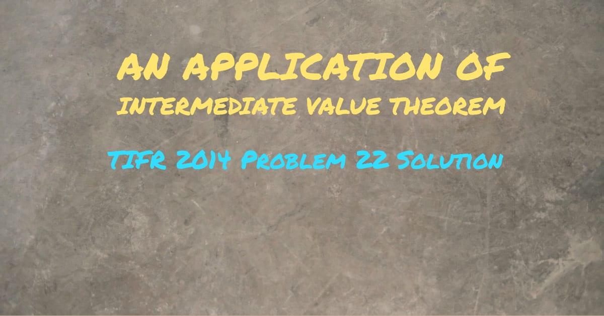 TIFR 2014 Problem 22 Solution