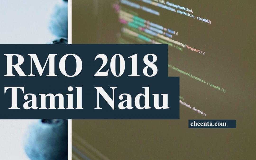 RMO2018 Tamil Nadu Solutions and Problems