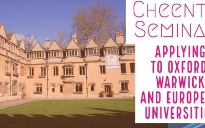 Applying in Oxford – Warwick after high school