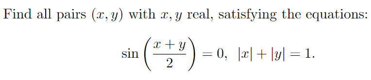 values in equation - question