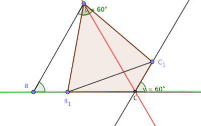 Locus of vertex of an equilateral triangle