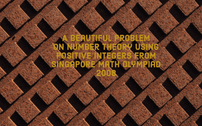 A Beautiful Equation using Positive Integers from Singapore Math Olympiad 2008