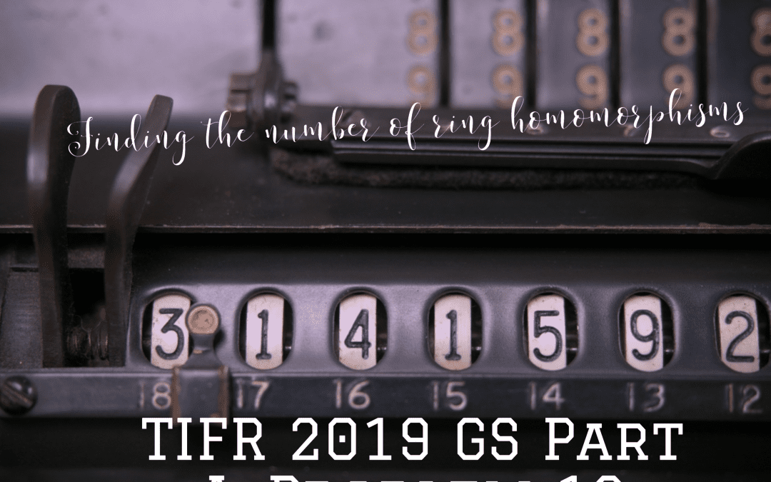 Finding the number of ring homomorphisms:TIFR 2019 GS Part A, Problem 16