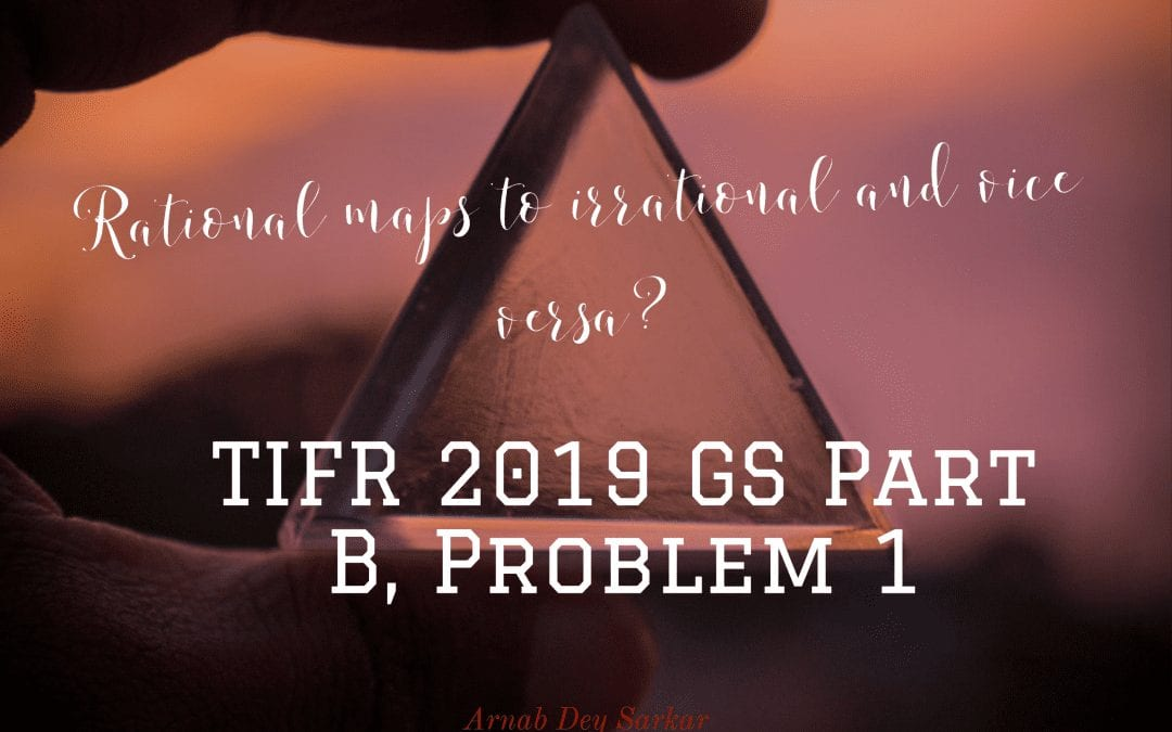 Rational maps to irrational and vice versa?: TIFR 2019 GS Part B, Problem 1