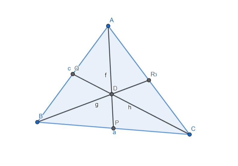 Lattice point inside a triangle
