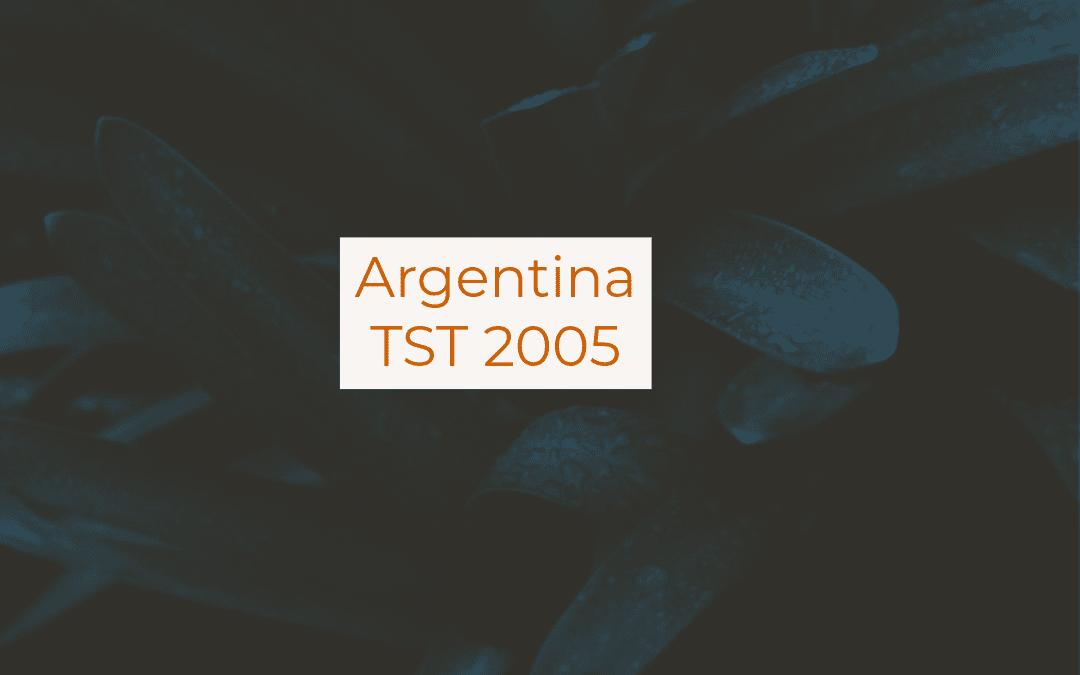 Argentina TST 2005