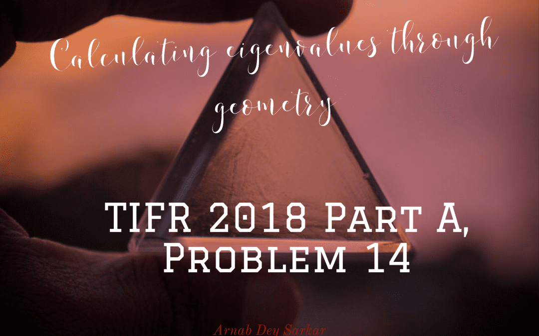 Calculating eigenvalues through geometry:TIFR 2018 Part A, Problem 14