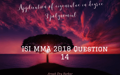 Application of eigenvalue in degree 3 polynomial: ISI MMA 2018 Question 14