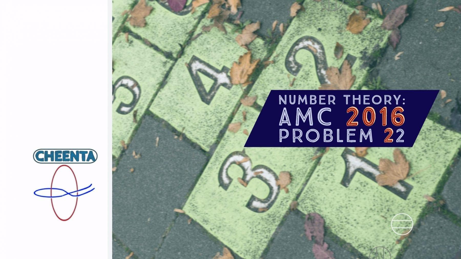 AMC 10A Problem 22