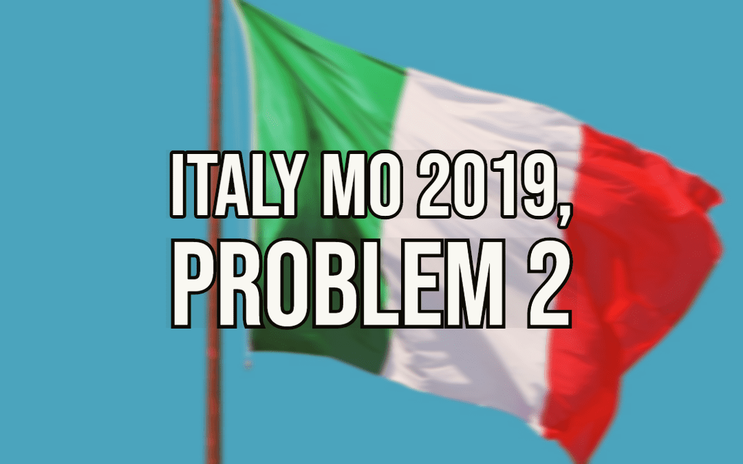 Number Theory – Italy MO 2019, Problem 2