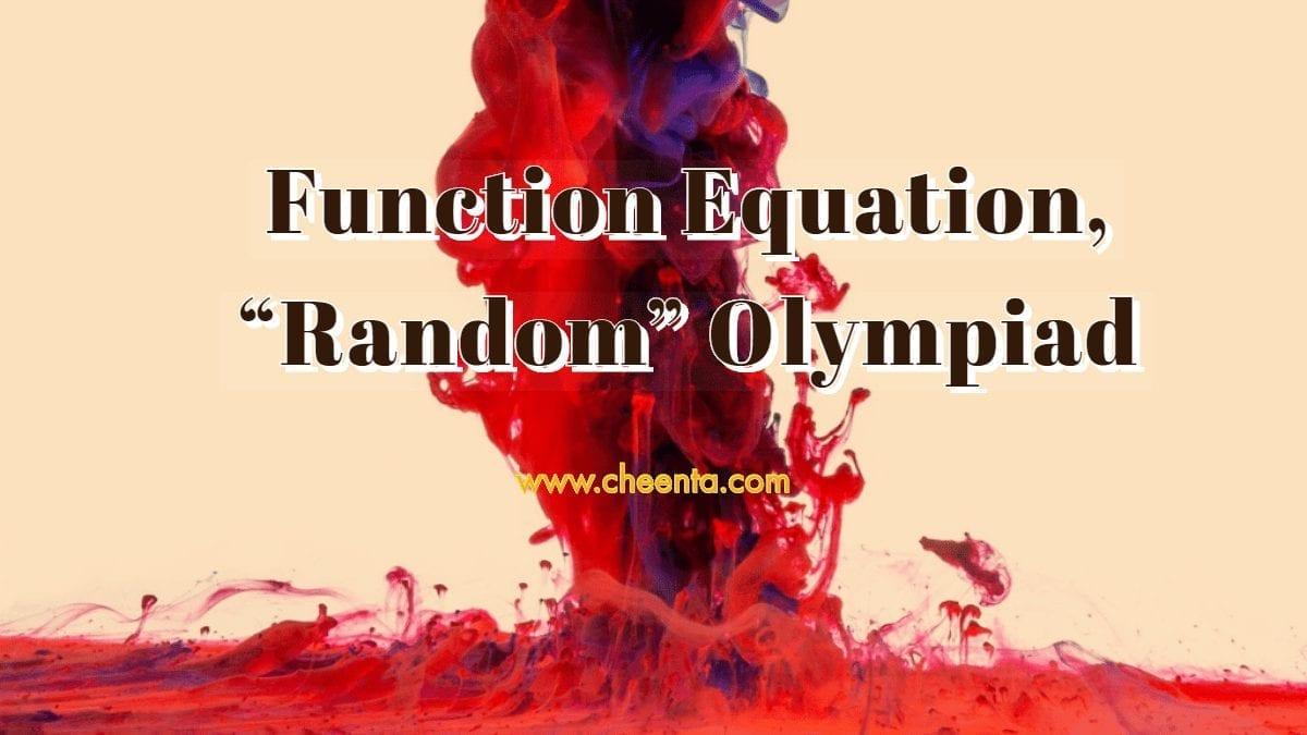 Polynomial Functional Equation - Random Olympiad Problem