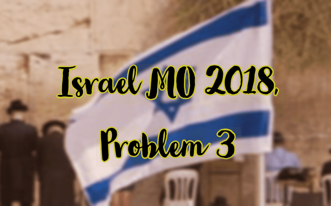 Inequality, Israel MO 2018, Problem 3