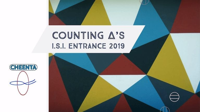 Counting triangles in ISI Entrance 2019