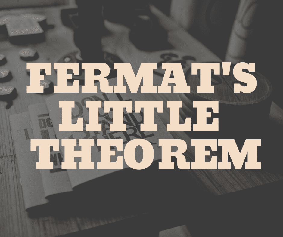 fermat's little theorem