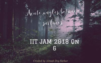Acute angles between surfaces: IIT JAM 2018 Qn 6
