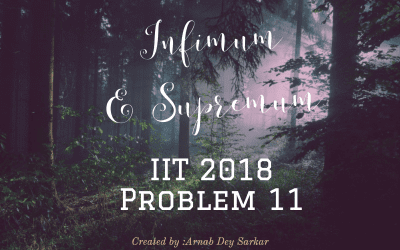 Supremum and Infimum: IIT JAM 2018 Problem 11