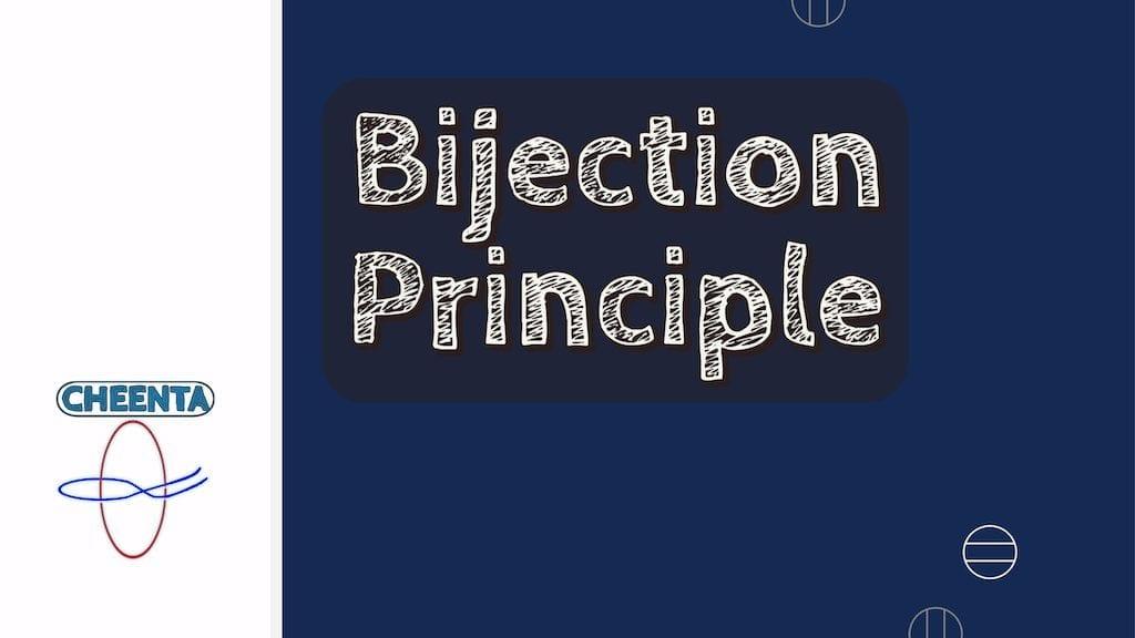 Bijection principle ISI Entrance