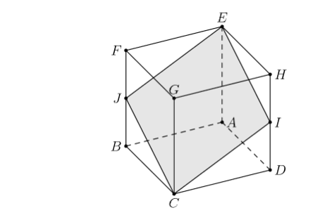 area of cube's cross section