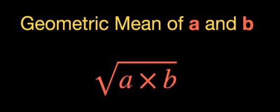 formula to calculate geometric mean