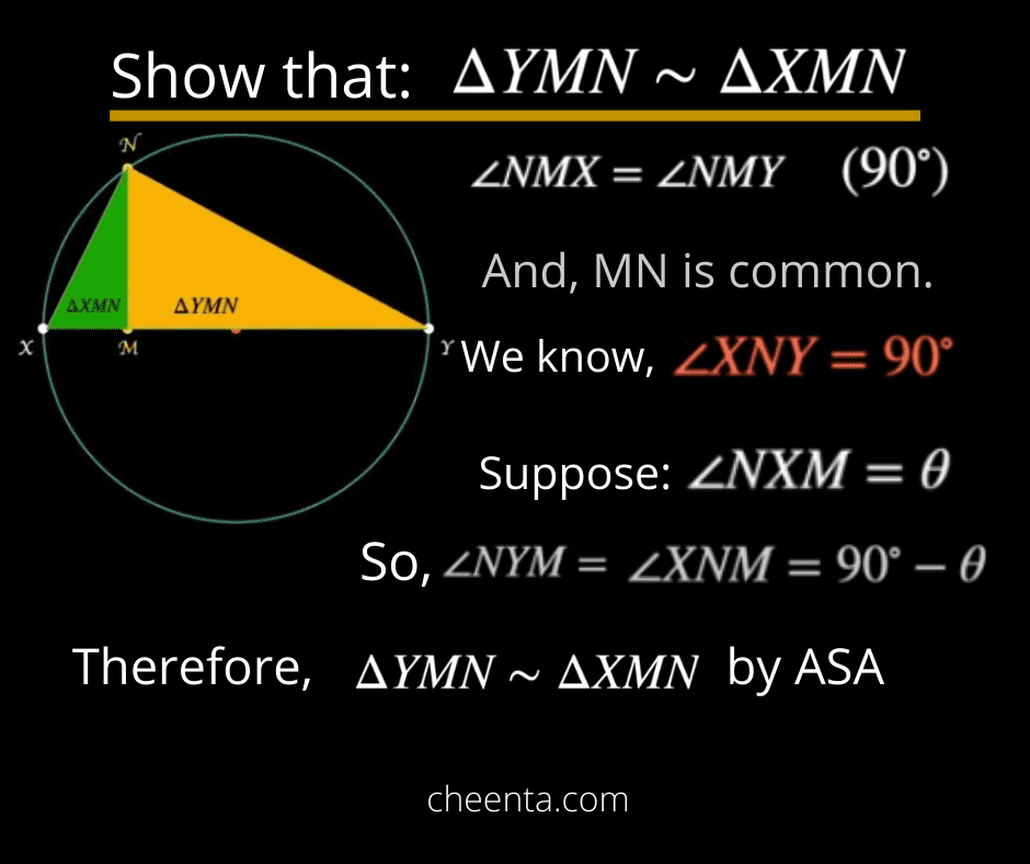 Similarity proof of two triangles
