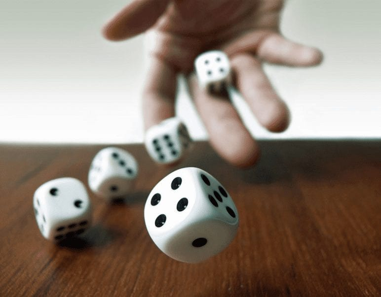 roll a Dice by tossing aCoin