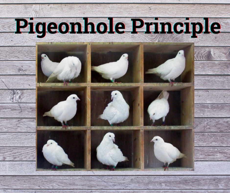 Pigeonhole Principle - Pigeons in hole